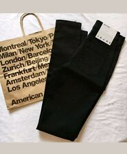 NWT AMERICAN APPAREL Black Wash High Waist Easy Skinny Jean Small  New With Tags