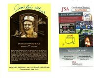 Jim Rice Signed Hall Of Fame Plaque Postcard HOF 09 Autograph Boston Red Sox JSA