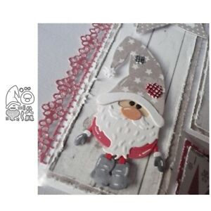 Christmas Santa Claus Metal Cutting Dies Stencil Scrapbooking Embossing Crafts