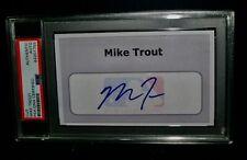 PSA/DNA Authentic Auto MIKE TROUT Signed Cut Collectible Baseball Autographs