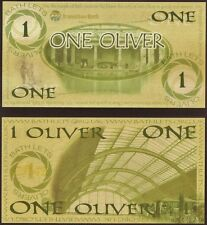 England / Bath : 1 Oliver Local UK Currency, made from recycled Cannibis leaves