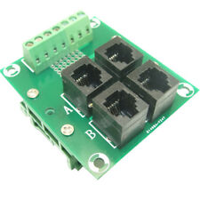 RJ11/RJ12 to screw 6P6C Jack 4-Way Buss Breakout Board, RJ12 splitter board