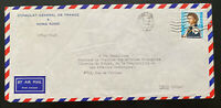 1968 Hong Kong French Consulate Diplomatic  Airmail Cover To Paris France
