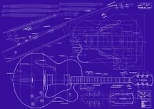 Gibson L5 CES® Jazz Guitar Decorative Blueprint - A0 size