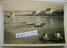 Foto mit Soldaten bei Schlauchboot - Überfahrt an der Warthe?.(14)
