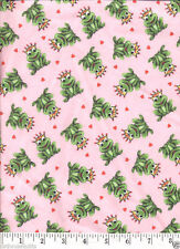 Frog Prince (Pink) FLANNEL Quilt Fabric - Free Shipping - 1 Yard
