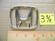 "HONDA chrome plastic emblem sticker civic 3 5/8"" wide pilot ridgeliner no studs"