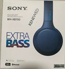 Sony WH-XB700 Wireless  Extra Bass Blue Headphones with Microphone - (Each)