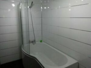 WHITE GLOSS 1 EDGE wet wall 250mm wide x 2.7mm LONG  PVC CLADDING 5MMTHICK