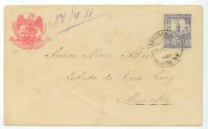 April 21 1897 Mexico PSE stationery cover to Max Beer, Vera Cruz