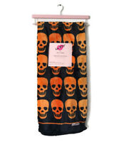 "Luv Betsey Skull Blanket Ultra Soft Plush Throw Orange Black 50""x60"""