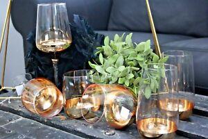 2er Set Weinglas/  Longdrink-Glas / Tumbler Exklusive Gläser Gold Rand Geschenk