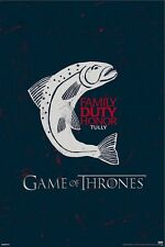 GAME OF THRONES POSTER ~ TULLY CREST 24x36 TV Sigil Logo Family Duty Honor
