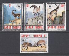 Ethiopia Sc 1303-1306 MNH. 1990 Walia Ibex, WWF complete set, VF.
