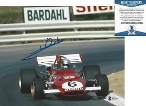 MARIO ANDRETTI FORMULA ONE DRIVER SIGNED 8x10 PHOTO G NASCAR BECKETT COA BAS