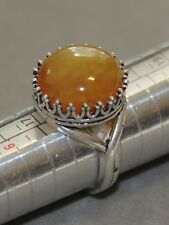 Ring with genuine Baltic Amber Stone!