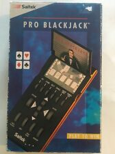 Saitek Pro Blackjack Electronic Handheld Game New 1992 W/ Box and Manual
