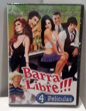 BARRA LIBRE!!! 4 Peliculas BRAND NEW DVD FACTORY SEALED We Ship Worldwide!