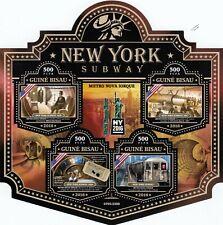 NEW YORK CITY SUBWAY Rapid Transit System Metro Train Stamp Sheet (2016)