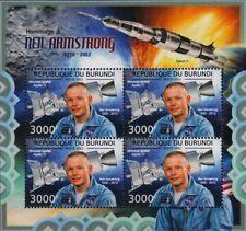 Neil Armstrong NASA APOLLO XI LUNE ASTRONAUTE Space STAMP SHEET #2 (2012 Burundi)