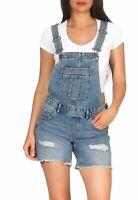 Only Damen Latzhose Shorts kurze Hose Jeans Jumpsuit Latzshorts Felicia