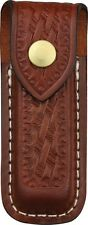Victorinox 33202 Zermatt Belt Folding Knife Pouch Medium Brown Basketweave