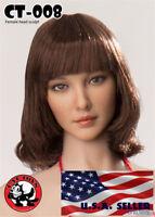 "1/6 Female Head Sculpt CT008A For 12"" Hot Toys PHICEN TBLeague Figure ❶USA❶"
