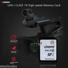 Kingston 64GB SD SDHC Class 10 UHS-I Flash Memory Card SD Card Camera Computer