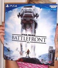 RARE STAR WARS BATTLEFRONT COLLECTORS PROMO POSTER DISPLAY PS4 XBOX ONE PREORDER