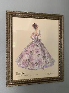 Framed Ltd Ed Barbie Fashion Model print signed Robert Best #0280/5000 COA 2007