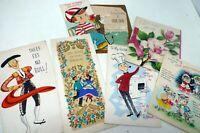 7 Vintage Old Greeting Cards Hallmark American Greetings Charm Craft 40s 50s
