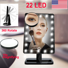 20 Led Lights Vanity Makeup Cosmetic Mirror Touch Screen Lighted +10x Magnifying