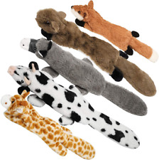 New listing Nocciola Crinkle Dog Squeaky Toys with Double Layer Reinforced Fabric, Durable D