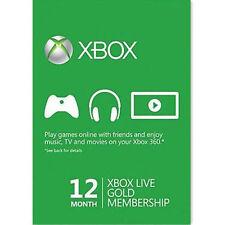 Xbox One 360 live Gold 12 Monate Mitgliedschaft Karte SOFORT OHNE PRÜFUNG!