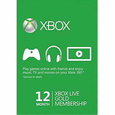 Xbox One 360 live Gold 12 Monate Mitgliedschaft Karte