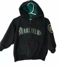 Seattle Mariners Toddler Majestic Full Zip Hooded Sweatshirt  - Size 2T