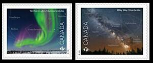 2018 Canada Post 📭🌒 2 ASTRONOMY Stamps 📭🌒🚀 Both From Booklet MNH