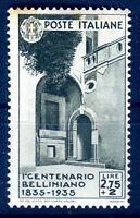 REGNO 1935 - BELLINI    Lire 2,75 + 2   NUOVO */**  LEGGI