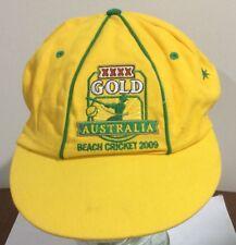 XXXX GOLD AUSTRALIA BEACH CRICKET 2009 CAP,XXXX GOLD BEACH CRICKET CAP SIZE L