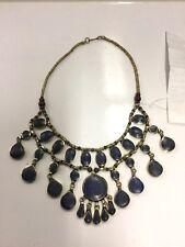 New Ladies Kuchi Tribe Hippie Festiveal Boho Lapis Necklace
