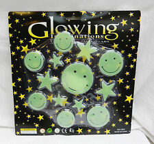 Glowing Imaginations - Glow in the Dark Stickers - Party Pack - Smileys & Stars