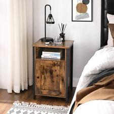 Vintage Nachttisch Nachtschrank Beistelltisch mit Ablage offenes Fach LET065B01