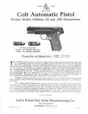 +     1 - 4000 - 1903/08  HAMMERLESS PISTOL  -   PARTS LIST AND MANUAL - 4 PAGES