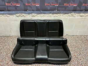 2010 CHEVROLET CAMARO SS OEM BLACK LEATHER REAR SEATS