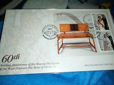 Royalty 2007 QEII Diamond Wedding Anniv New Zealand Sheetlet Cover
