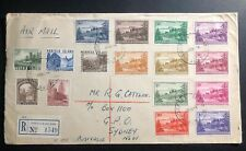 1955 Norfolk Island Registered cover To Sydney Australia First Stamp Issue Sc#18