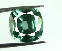 Cushion Green Sapphire VS Clarity Gemstone Natural 13.05 Ct AGSL Certified D760