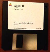 "Apple II System Disk 3.1 / 3.5"" / Apple II Home Computer"
