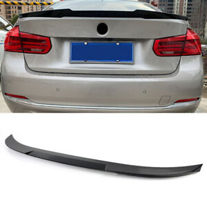 Gloss Black Rear Deck Trunk Lip Spoiler Wing For BMW 3 Series F30 F80 2012-2018