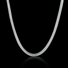 925 Hallmark Sterling Silver Filled SF Snake Bone Chain Necklace N466